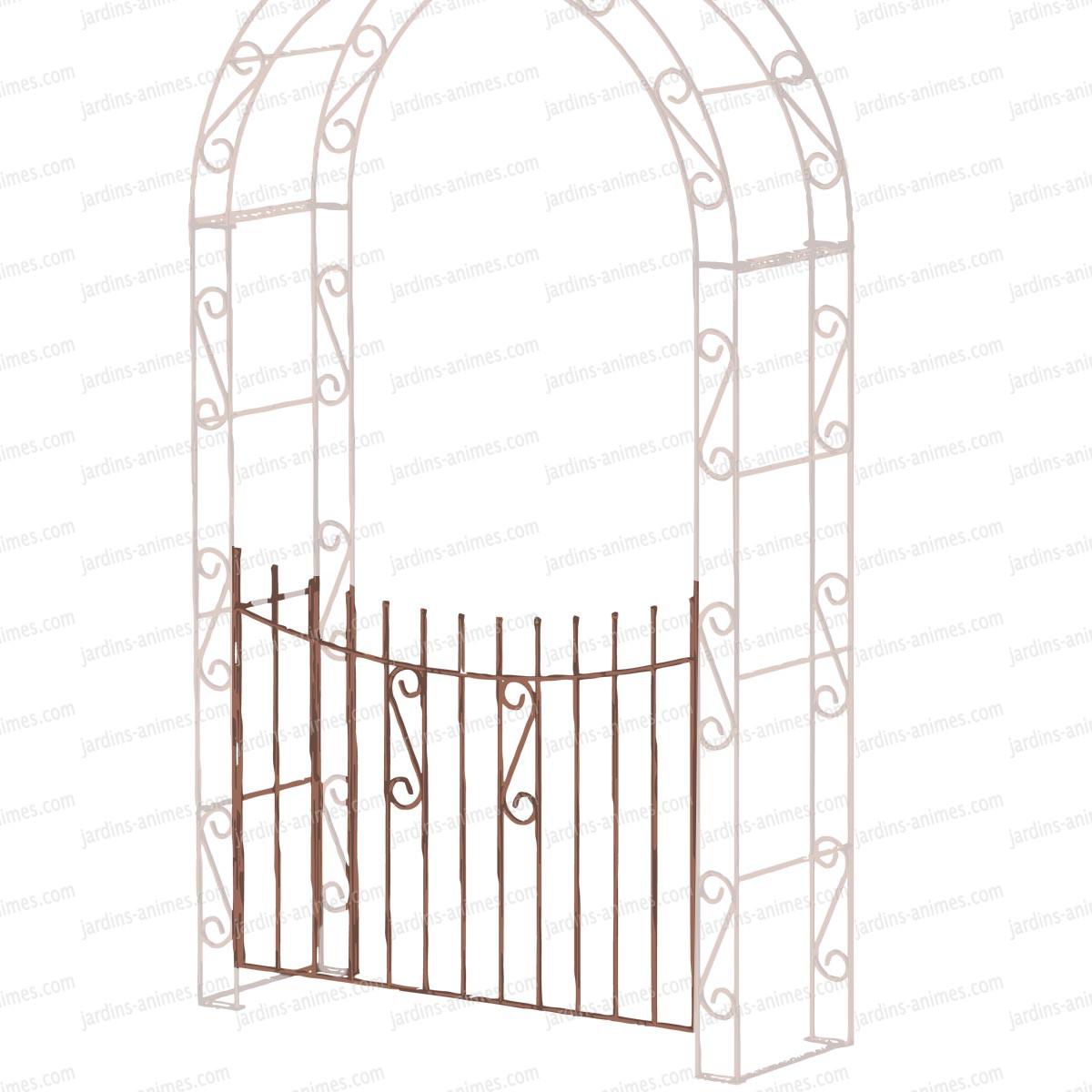 portillon 1 battant pour arche arrondie arches kiosque et marquise. Black Bedroom Furniture Sets. Home Design Ideas