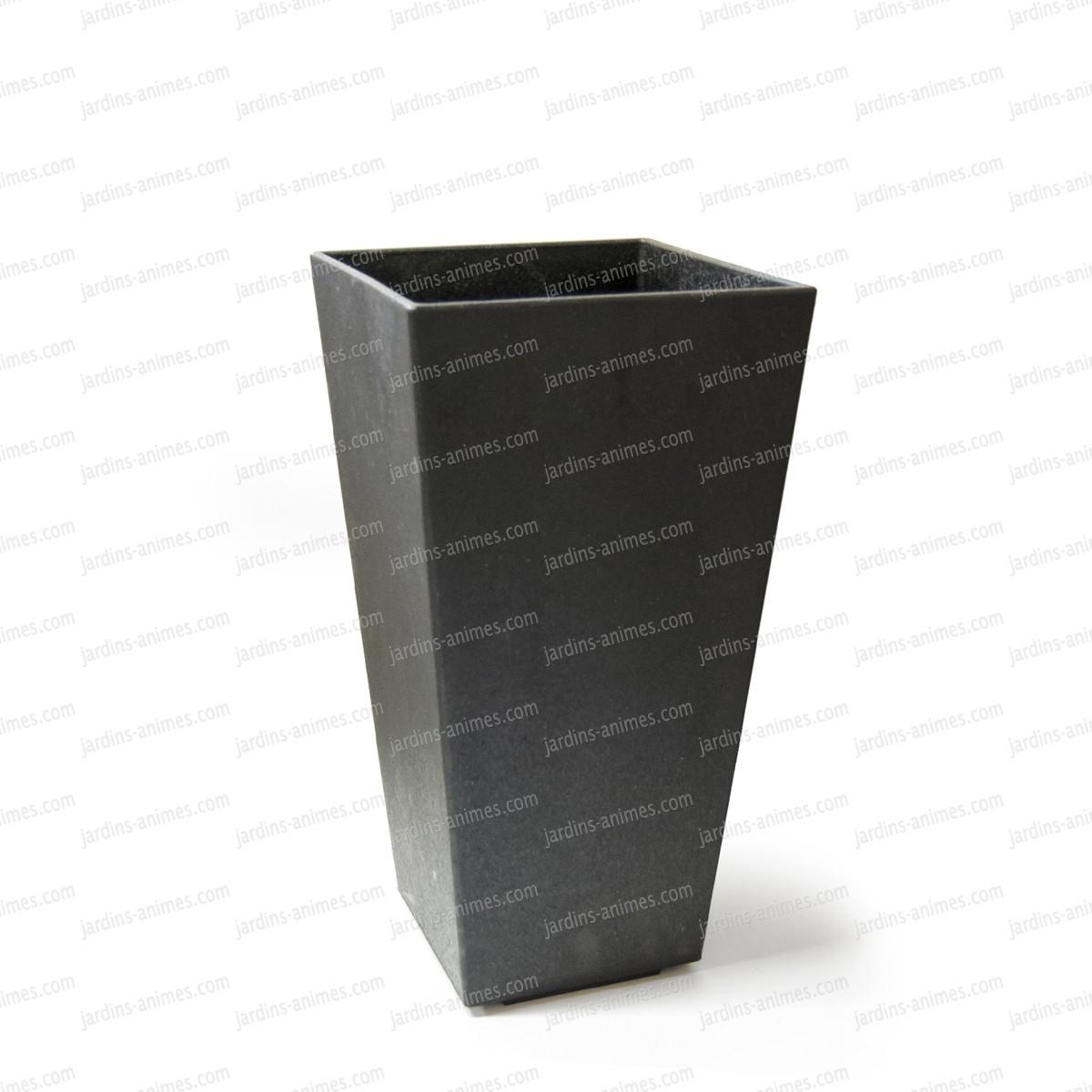 pot de fleurs gris sonata 100 recycl moyen mod le 50cm pots de fleurs jardini res. Black Bedroom Furniture Sets. Home Design Ideas