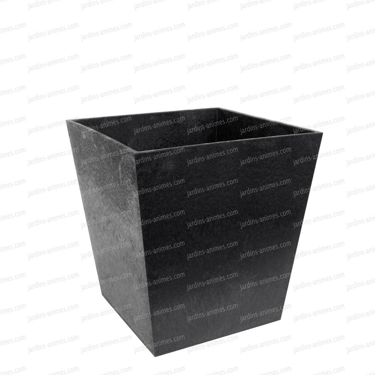 Pot de fleurs gris sonata 100 recycl petit mod le 33cm for Pot jardin gris