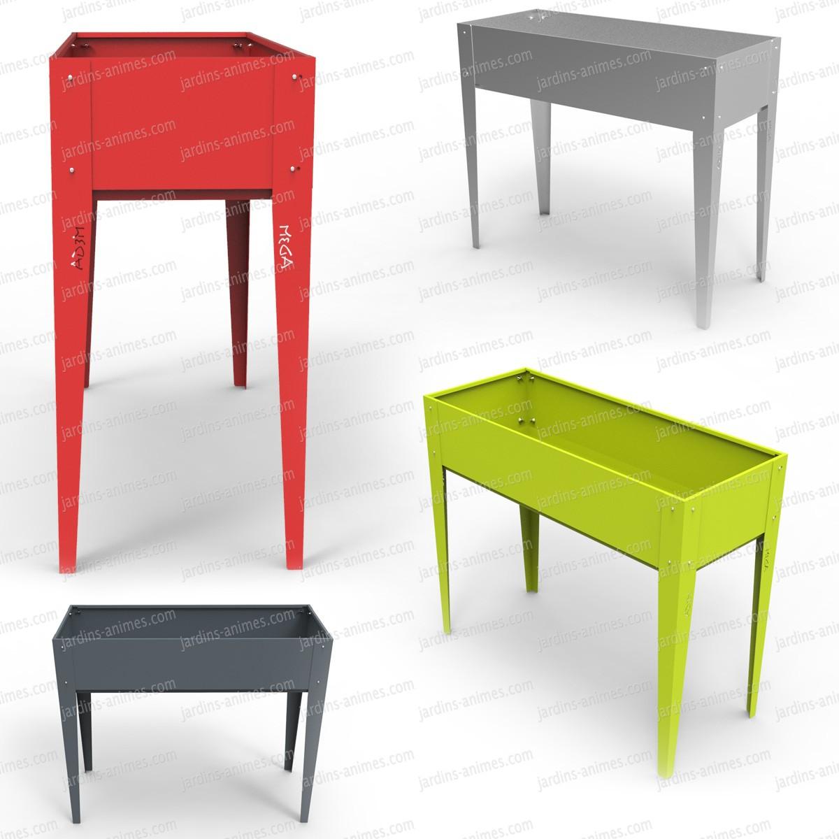potager urbain sur pied en acier carr. Black Bedroom Furniture Sets. Home Design Ideas
