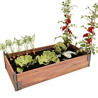 Potager bois rectangle 100x150cm en Pin, made in France