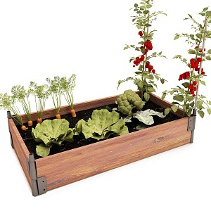 Potager bois rectangle en Pin, made in France
