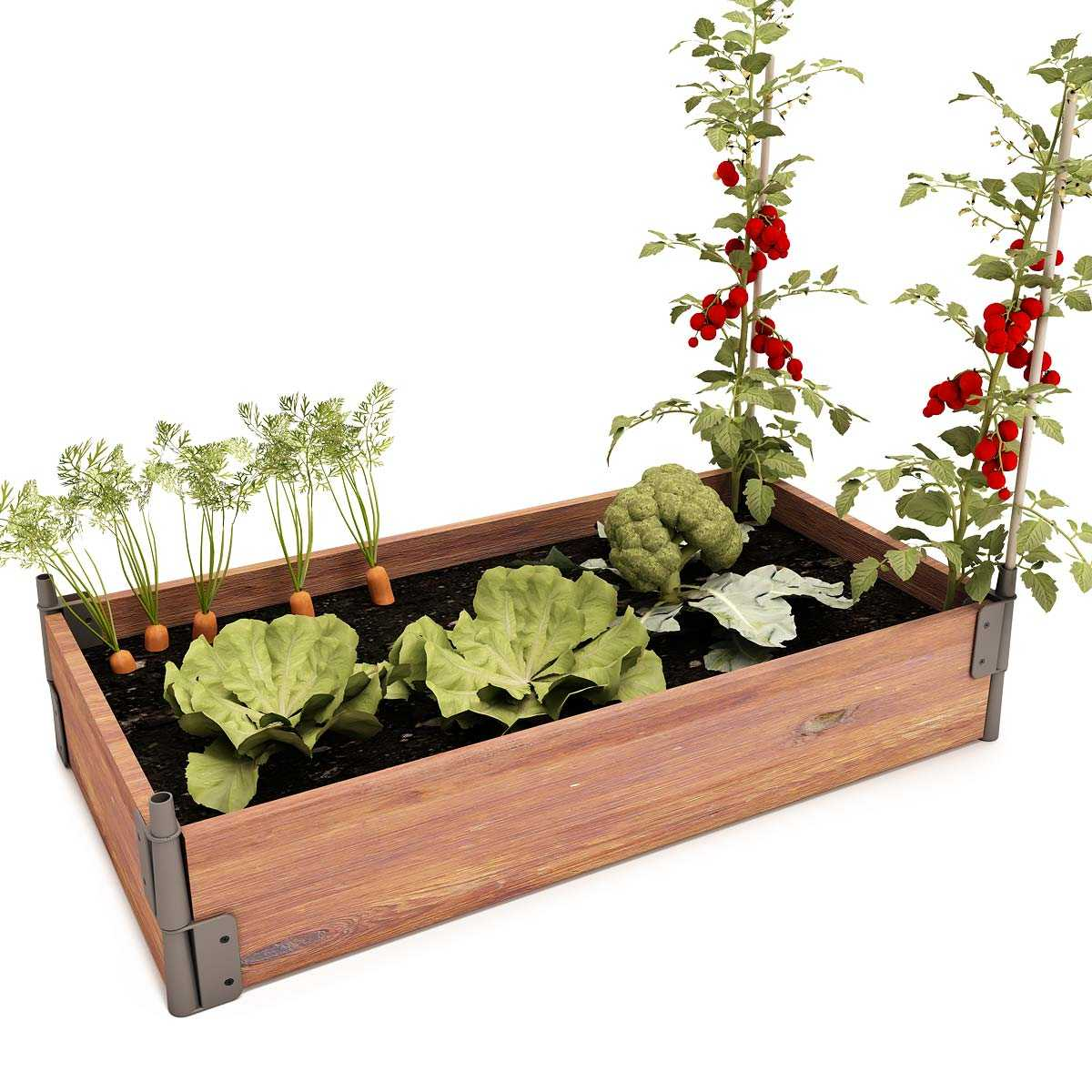 Faire Un Potager Sur Une Terrasse potager bois rectangle en pin, made in france