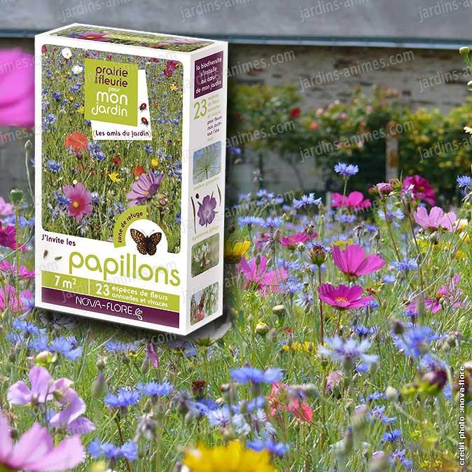 Prairie fleurie fleurs amies des papillons 7m2 for Graine de jardin