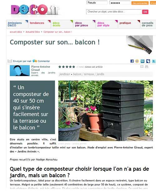 Jardins anim s revue de presse 2009 - Jardiner sur son balcon ...