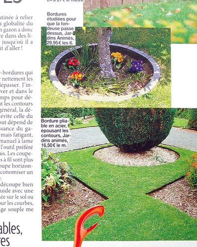 Jardins animes revue de presse 2009 for Bordure de jardin special tondeuse
