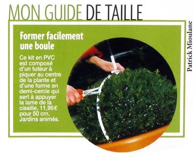 Jardins anim s revue de presse 2009 - Taille du buis en boule ...