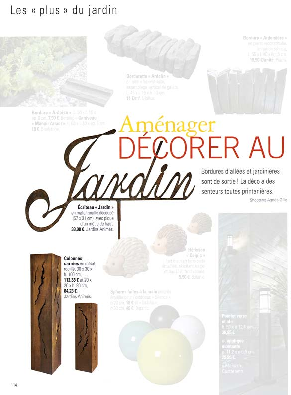 Jardins animes revue de presse 2014 for 100 idees jardin
