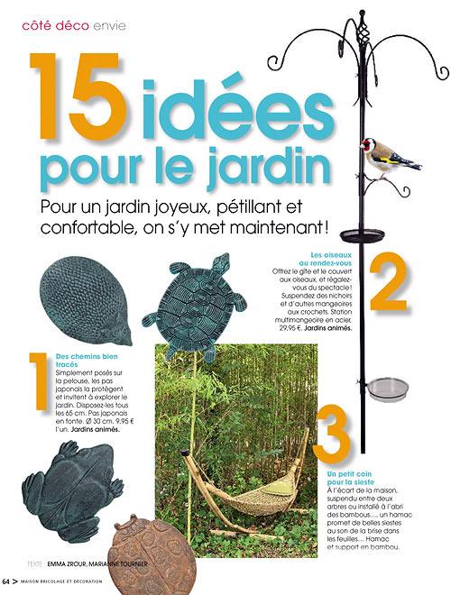 Jardins animes revue de presse 2010 for Magazine bricolage decoration
