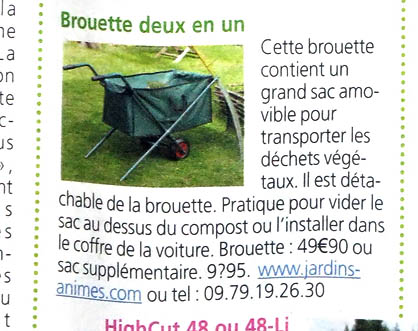 brouette pliable 2 roues