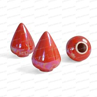 Capuchon céramique protège yeux ROUGE x3