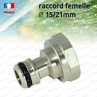 Raccord adaptateur femelle 15/21mm