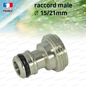 Raccord adaptateur male 15/21mm