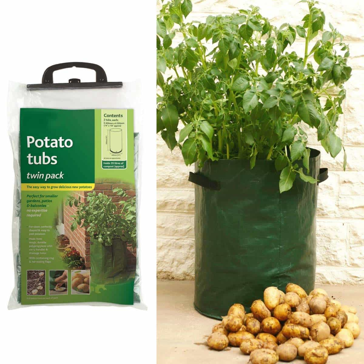 Sac culture pomme de terre x2 accessoires de culture semis - Cultiver des champignons de paris a la maison ...
