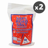 Lot de 2 sacs de sel de déneigement - 20kg