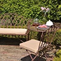 Salon de jardin Sophia en acier style fer forgé