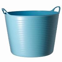 Seau souple de jardin - Bleu ciel 38L