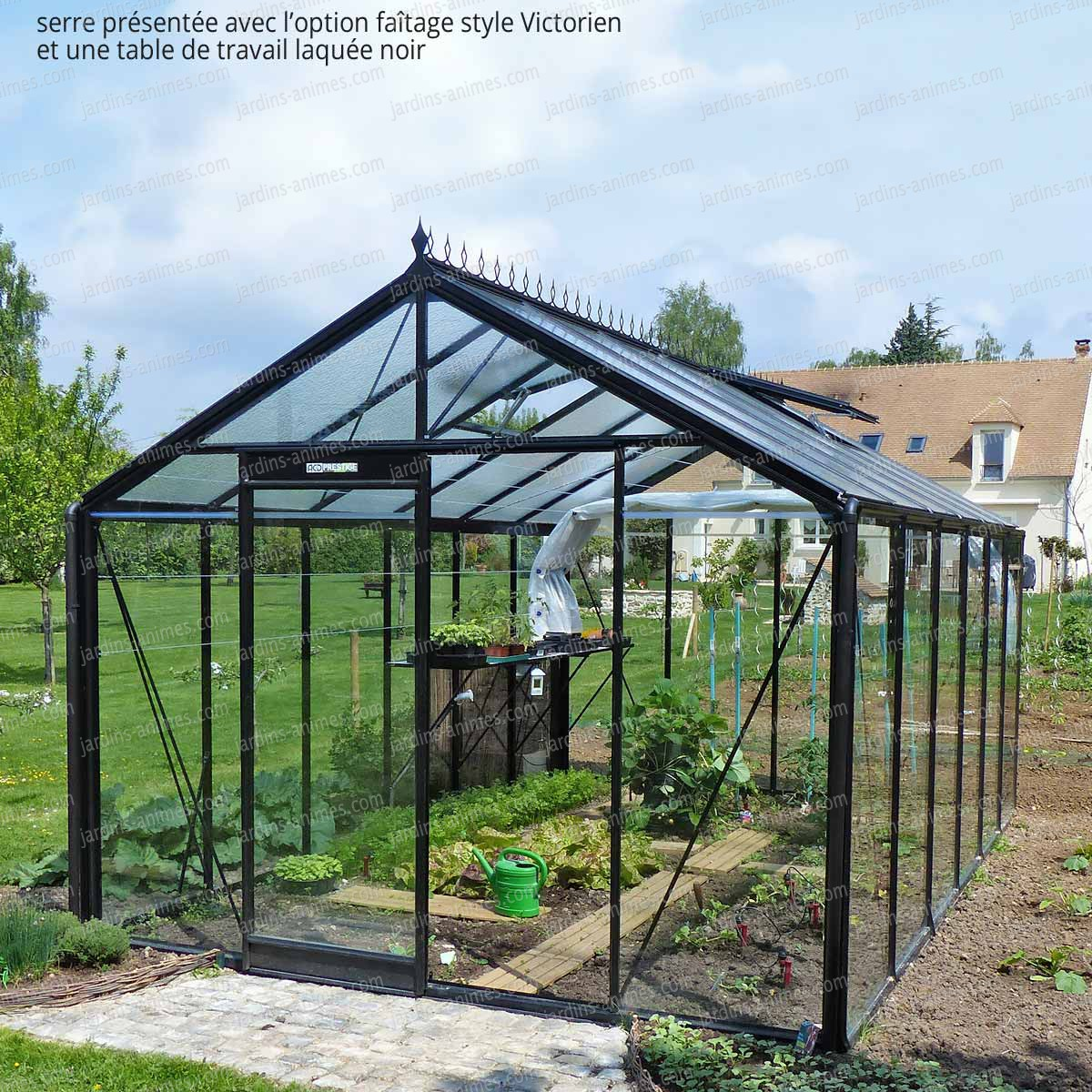 Serre prestige noir r306h serre jardin for Jardin 0 l4anglaise