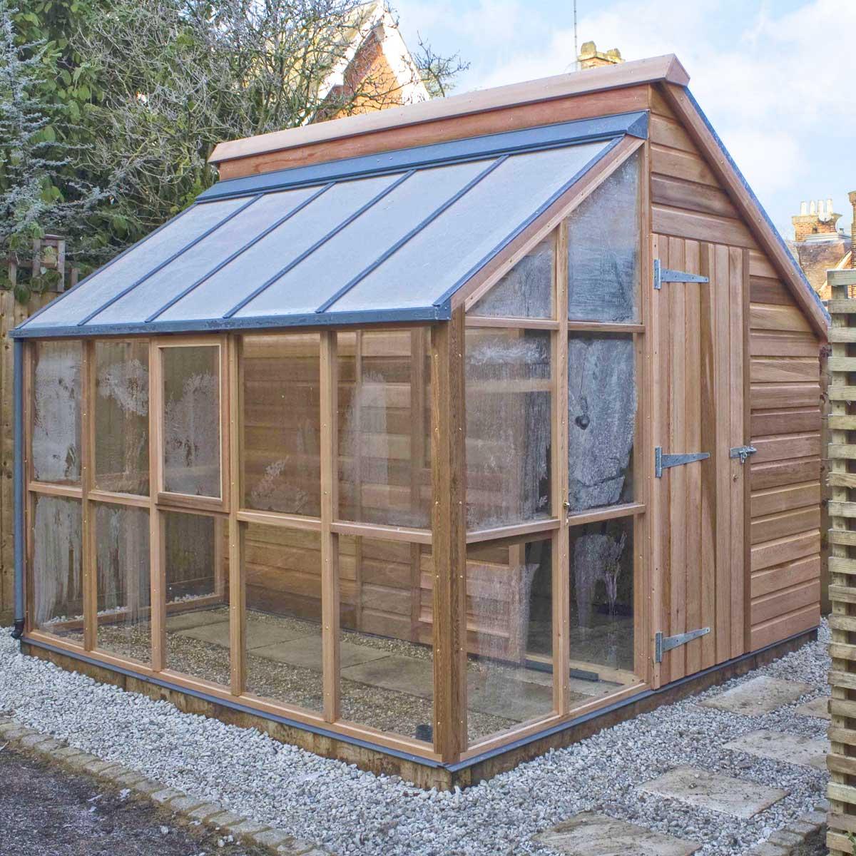 serre de jardin et abri en c dre 5 panneaux gabriel ash serre jardin. Black Bedroom Furniture Sets. Home Design Ideas
