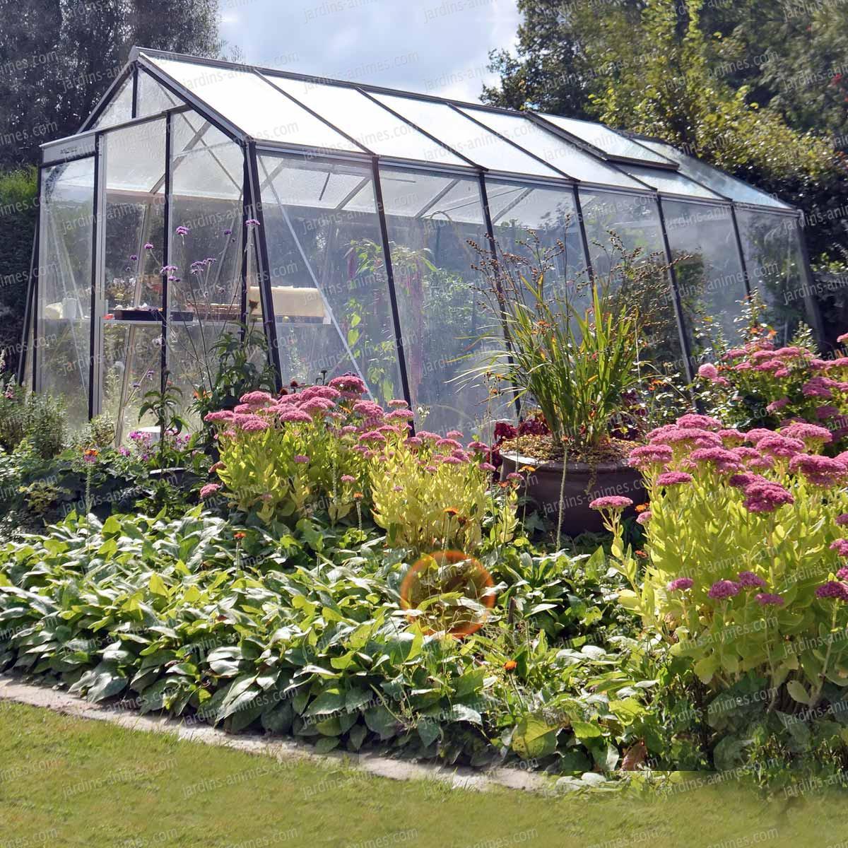 Serre de jardin acd prestige paroi oblique serre jardin - Arceaux pour serre de jardin ...