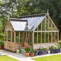 Mini serre de jardin en verre et aluminium H.150cm, vente au ...