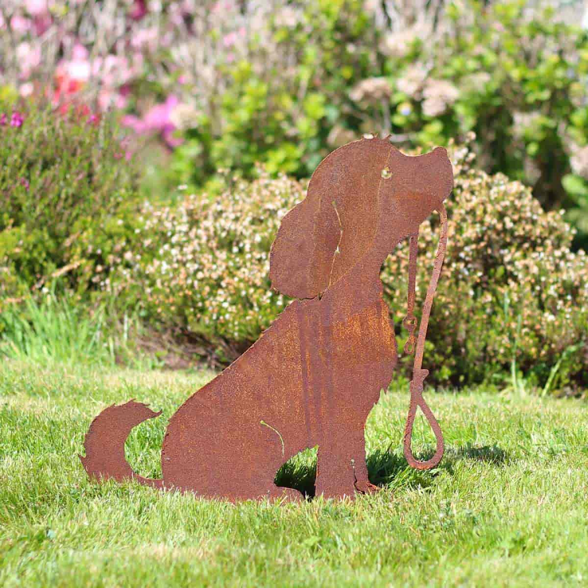 Silhouette Chien - déco de jardin en métal