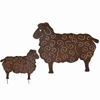 Silhouette Mouton au choix - déco de jardin en métal