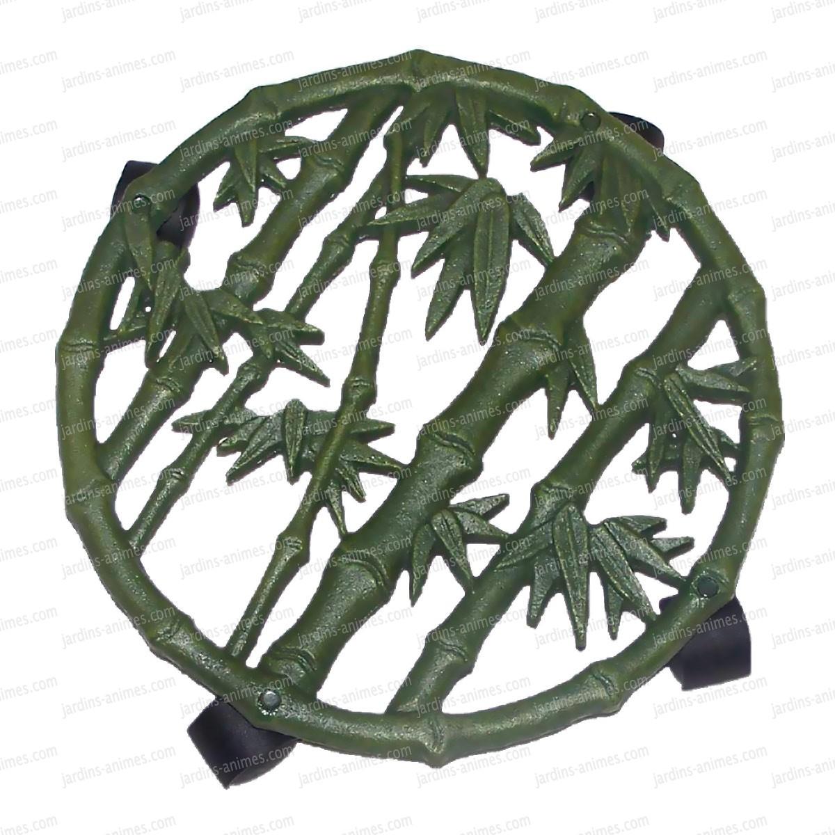 Porte plante roulettes bambou sac baquet seau chariot - Support a roulettes pour plantes ...