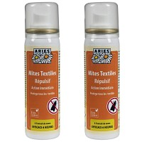 Lot de 2 Anti mites textiles en spray 50ml