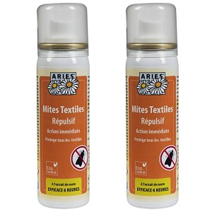 Anti mites textiles Spray 50ml Lot de 2