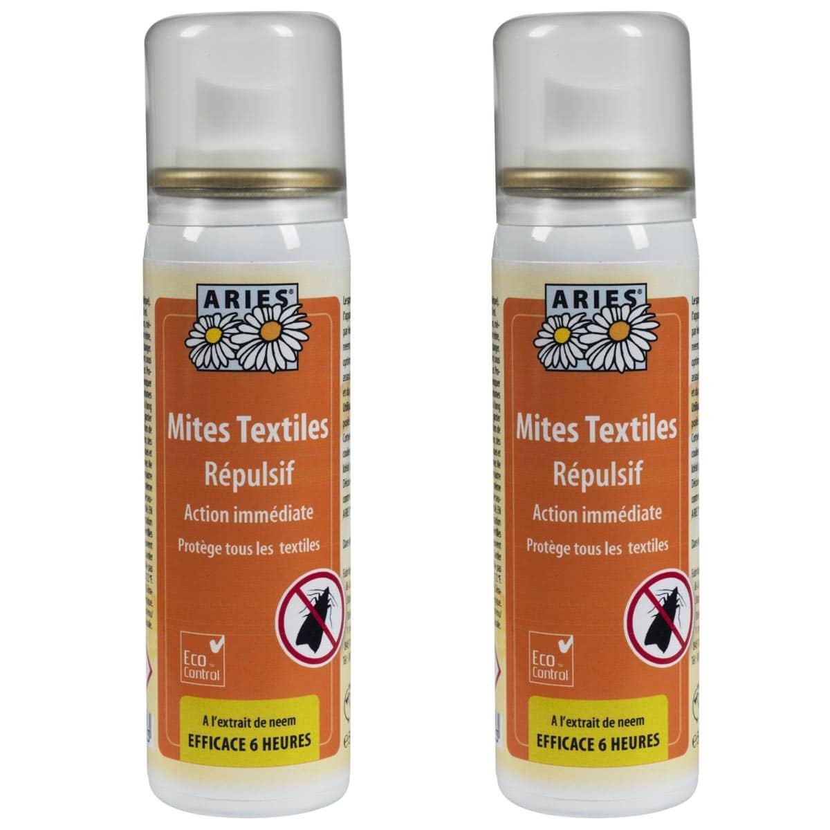 Comment Traiter Les Mites Dans Les Armoires anti mites textiles spray 50ml lot de 2