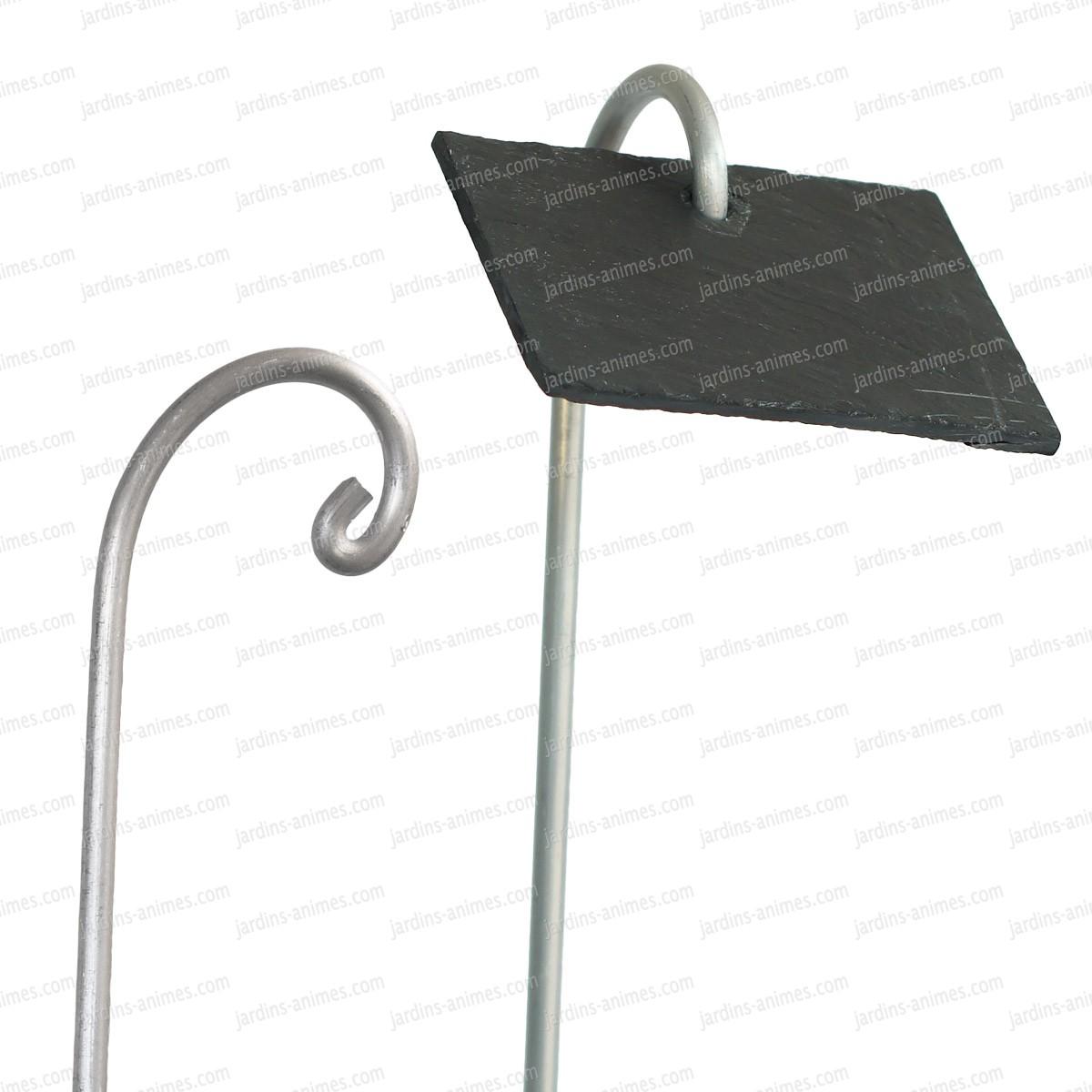Porte tiquette aluminium 80cm x10 etiquette et support for Porte de jardin aluminium