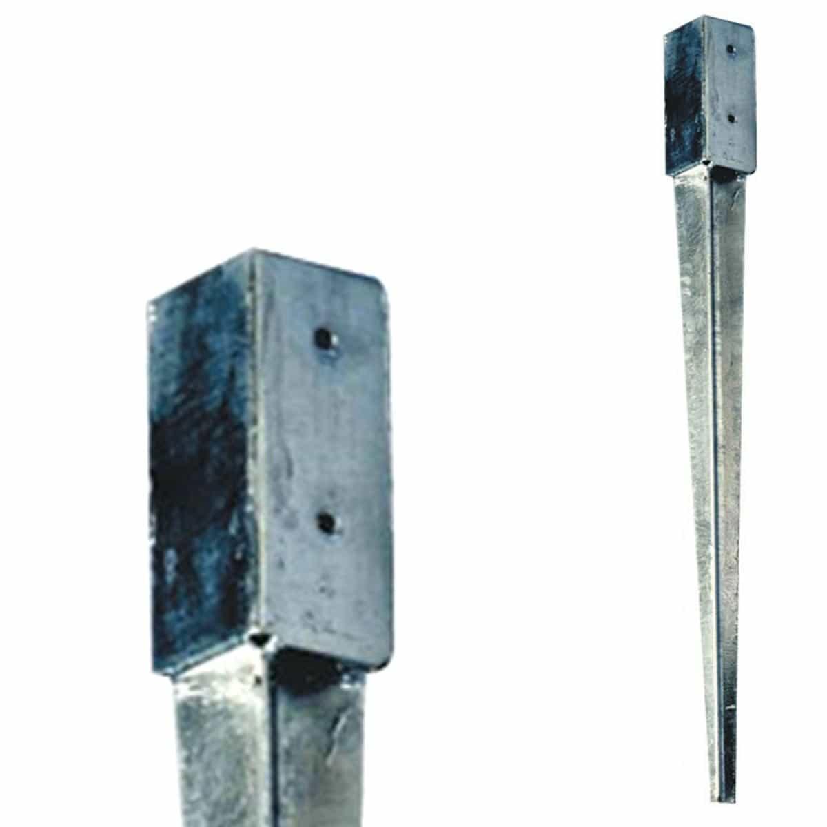 support de poteau 224 enfoncer 7x7x75cm acier galvanis 233