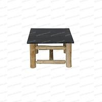 Table basse en ardoise 60cmx60cm x haut.40cm