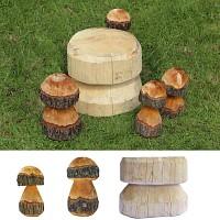 Champignons décoratifs en bois