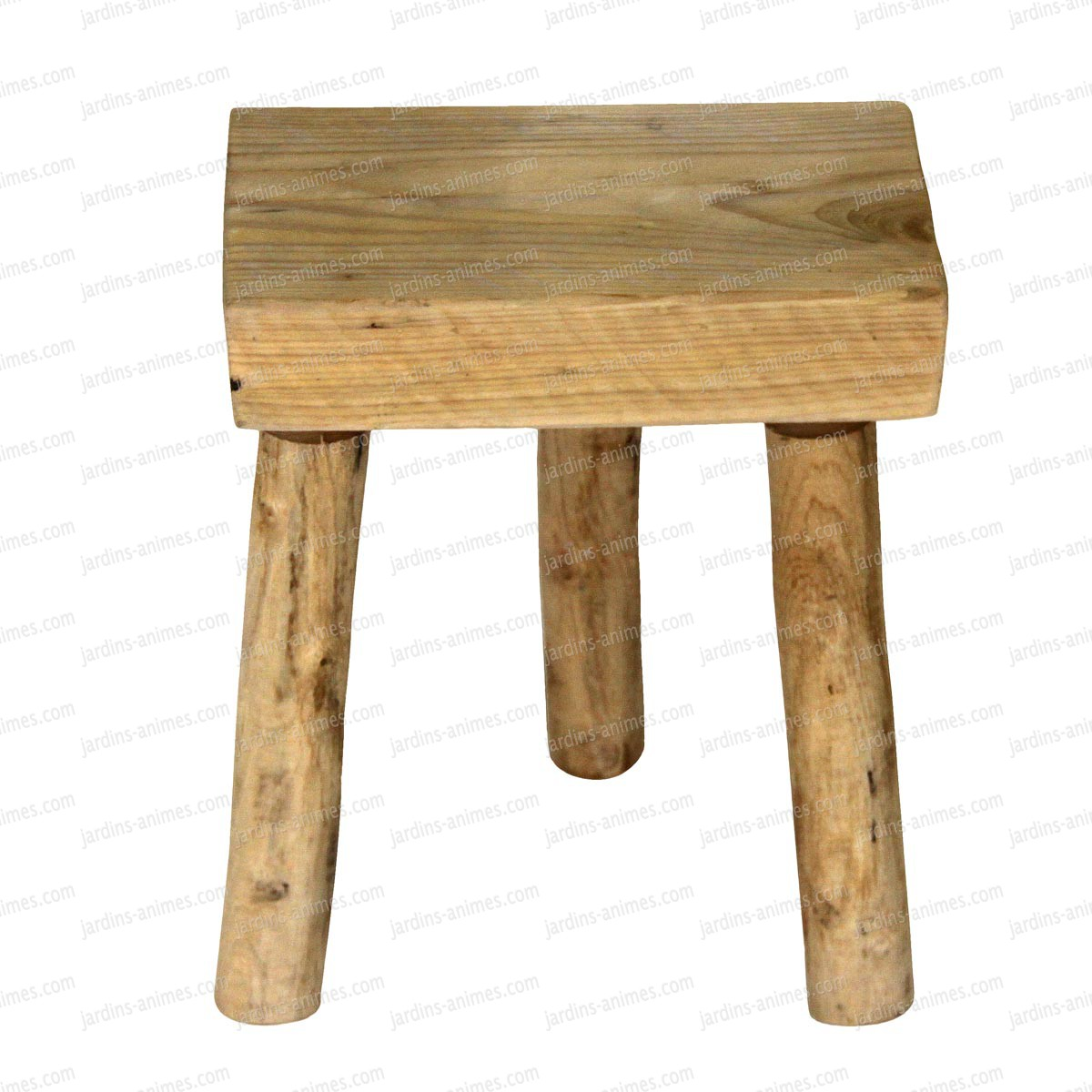 tabouret en bois 3 pieds 33cm x 22cm mobilier de jardin. Black Bedroom Furniture Sets. Home Design Ideas