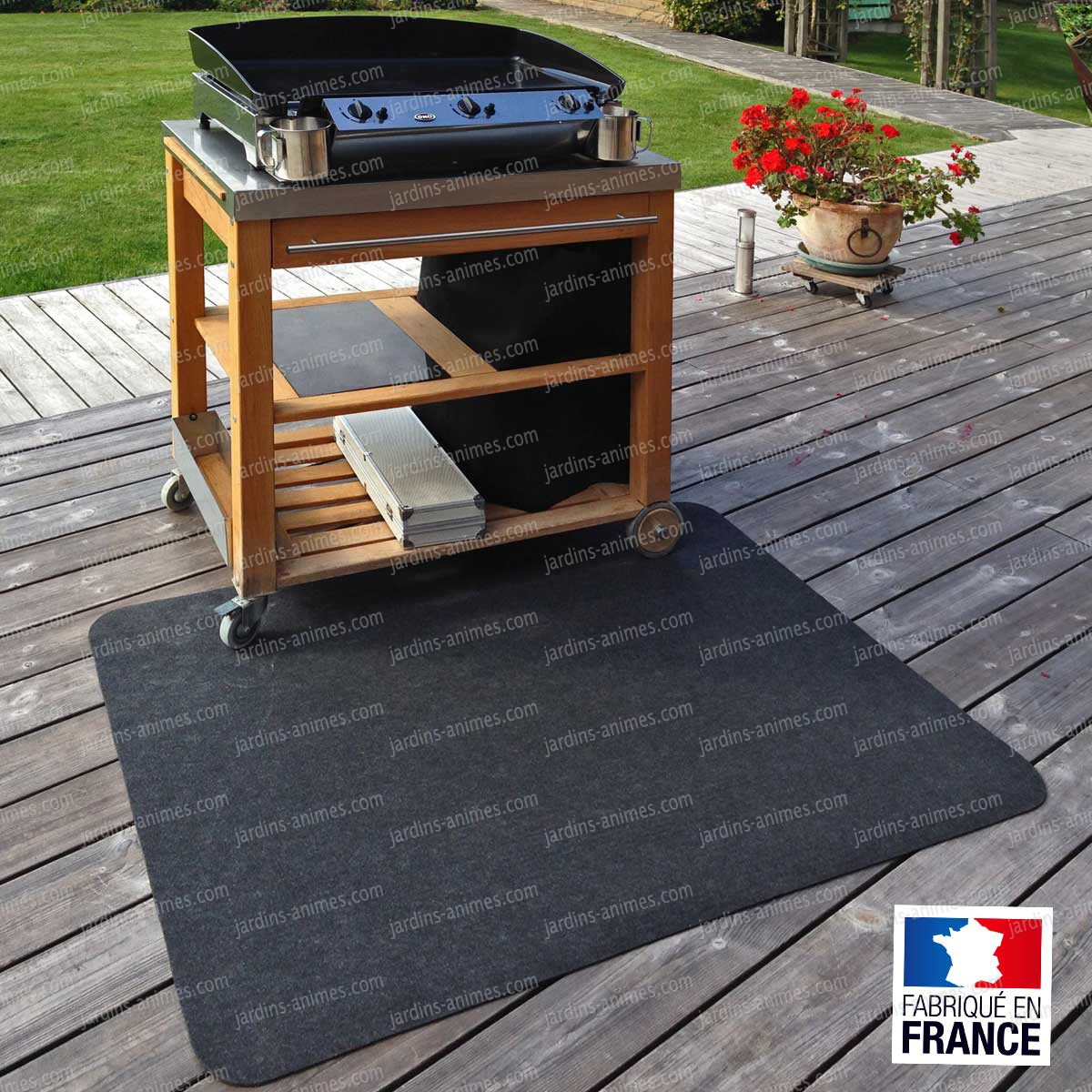 tapis de protection de sols pour plancha bras ro plancha barbecue. Black Bedroom Furniture Sets. Home Design Ideas