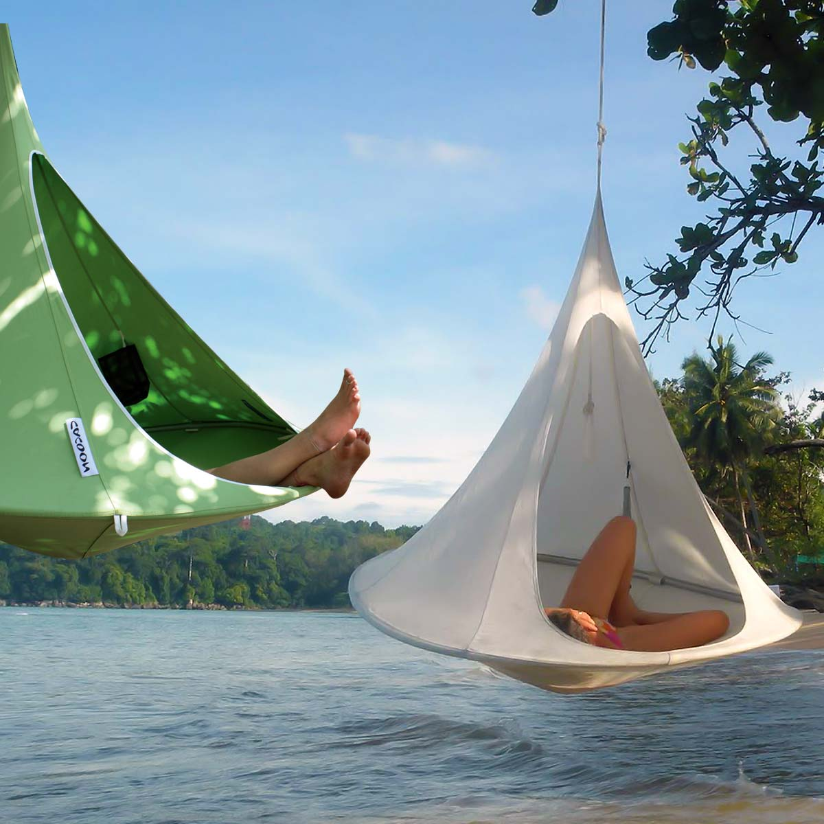 tipi suspendu tente cacoon tentes hamacs voiles. Black Bedroom Furniture Sets. Home Design Ideas