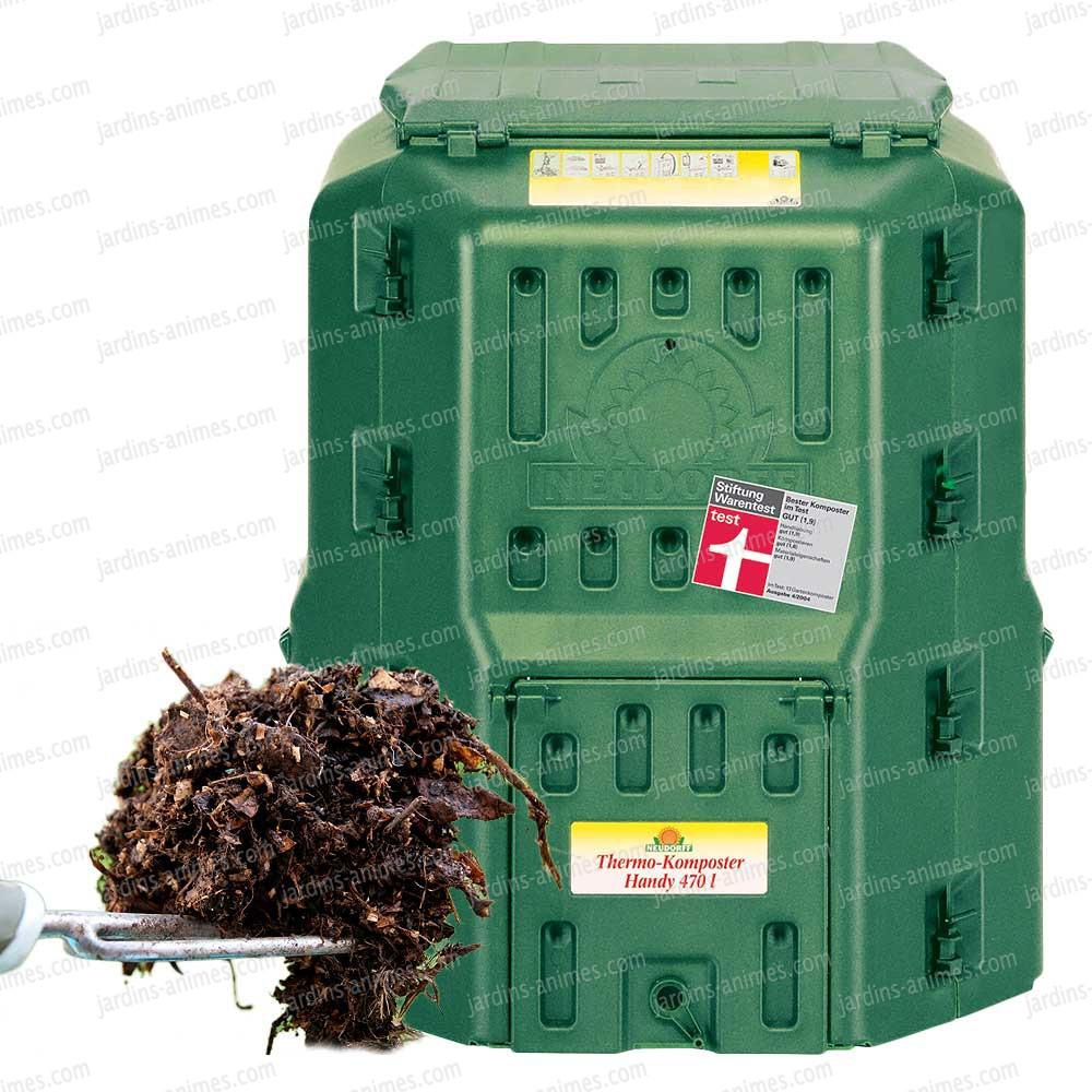 Thermo composteur 470l double coque composteur de jardin - Composteur de jardin ...
