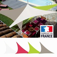 Voile d'ombrage triangulaire Easy Sail 5m x 5m x 5m