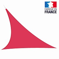 Voile triangulaire extensible Easy Sail 5m x 5m x 5m FRAMBOISE