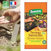 Terreau semis bouturages repiquages Bio - 6L