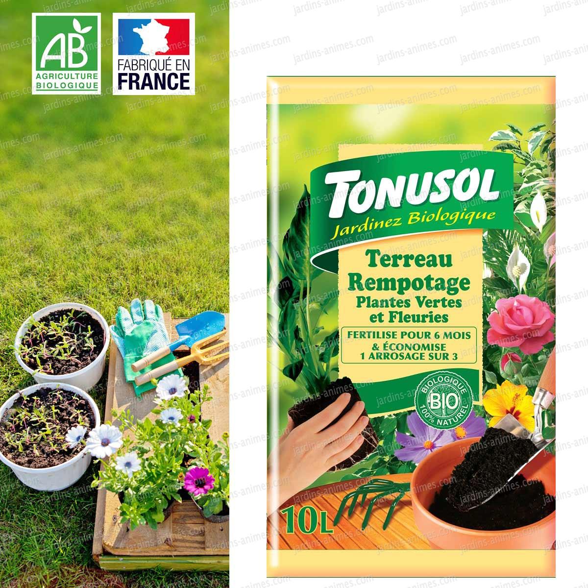 Terreau de rempotage bio 10l terreau et paillage for Acheter une plante verte