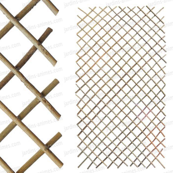 Treillage en bois acacia 60x110cm treillages support - Treillage bois jardin ...