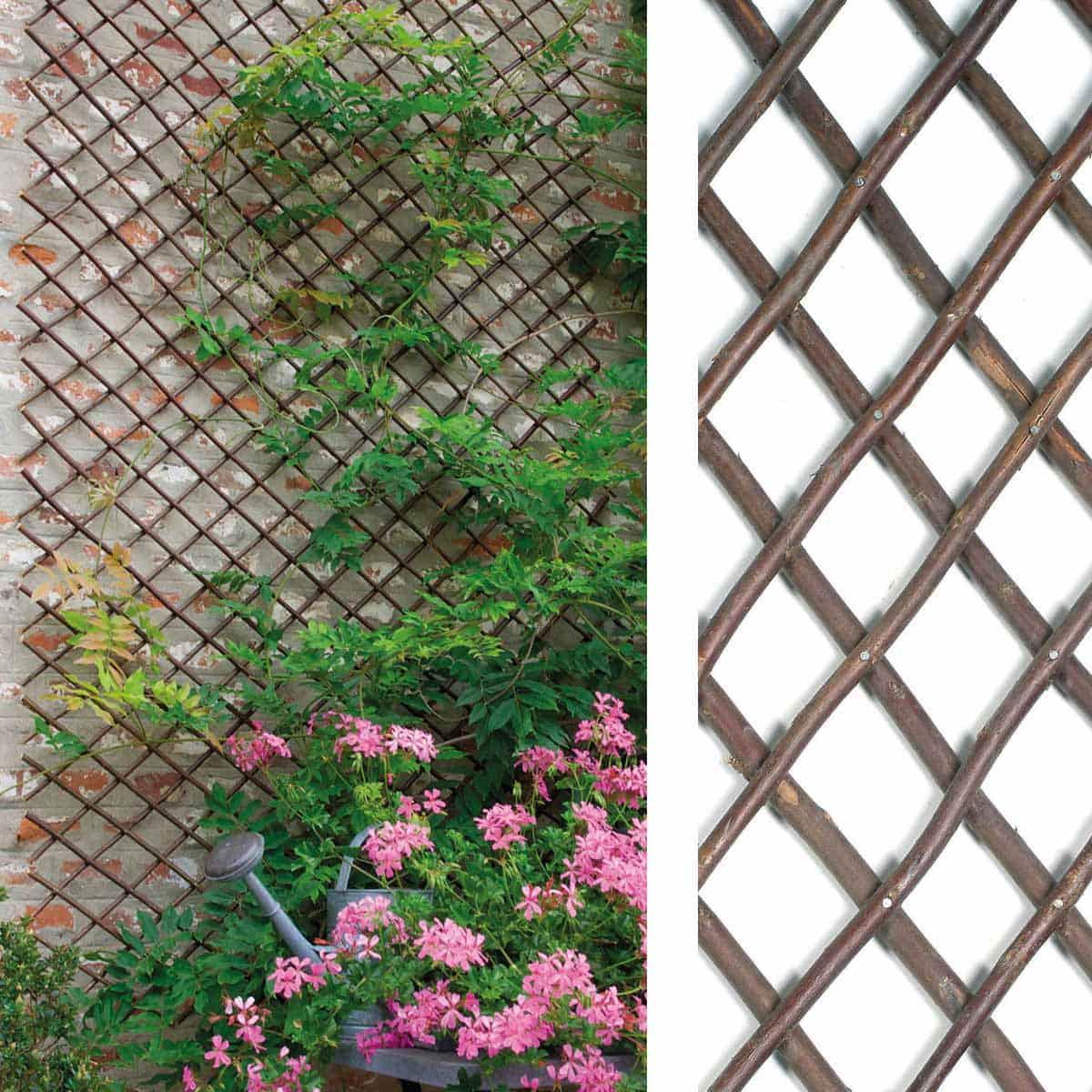 Fabriquer Treillis Bois Pour Plantes Grimpantes treillage extensible en osier 1m x 2m