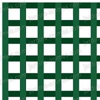 Treillage maille carrée 47mm 1.00mX2.00m VERT