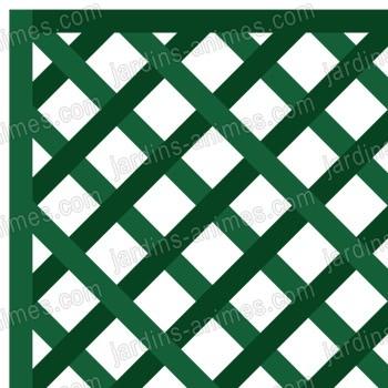 Treillage maille losange 47mm x vert - Treillage bois jardin ...