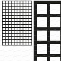 Treillage maille carrée 75mm 1.00m x 1.50m NOIR