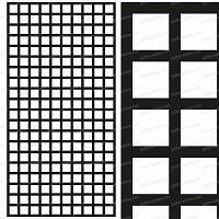 Treillage maille carrée 75mm 1.00m x 2.00m NOIR