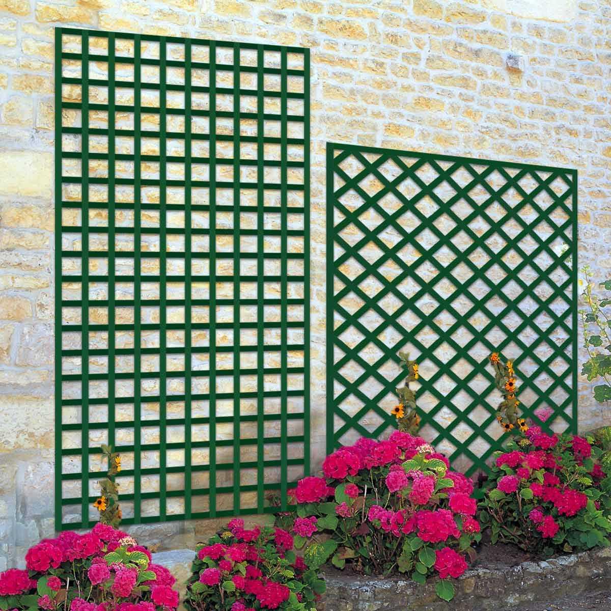 Claustra Treillis Exterieur Bois treillage décoratif maille carrée et losange